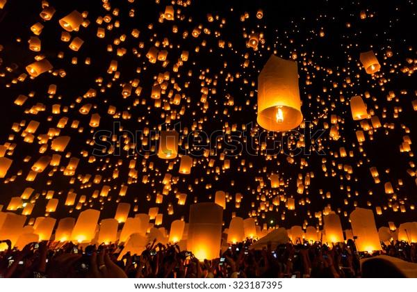 Fête de Chiang Mai en Thaïlande, un festival traditionnel, Yi Peng Lantern.