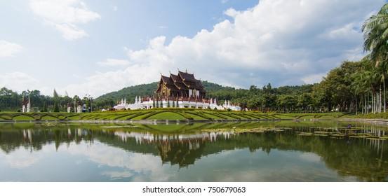 CHIANG MAI ,november ,2017: Royal Flora Ratchaphruek (Royal Park Rajapruek),is a landmark of Chiang Mai in Thailand.