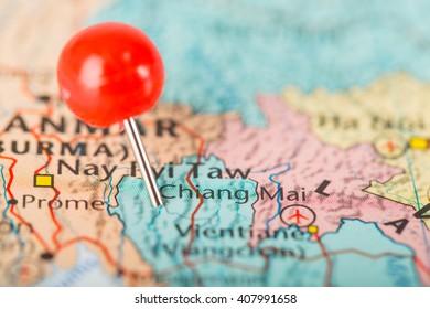 Chiang mai pin point big city of Thailand