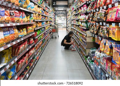 CHIANG MAI - Sep04: the shelf at rimping shop in chiang mai at meya shopping mall chiang mai  on Sep 09, 2017. Rimping  is one of largest convenience store franchise chains in thailand