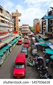 Chiang Mai ,Thailand - 14 July 2019 :  Warorot Market (Kad Luang) top view
