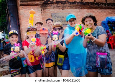 CHIANG MAI THAILAND APR-15 : Thai Happy New Year, Happy and Funny Thai People and Foreigner Travel in the Songkran Festival at Tha Pae Gate APRIL, 2015 at Chiang Mai Thailand.