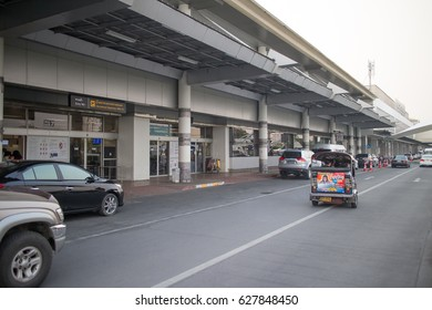 CHIANG MAI, THAILAND -APRIL 25 2017: International Terminal of Chiang mai International Airport. Airport Location About 1 Km. from city Center.
