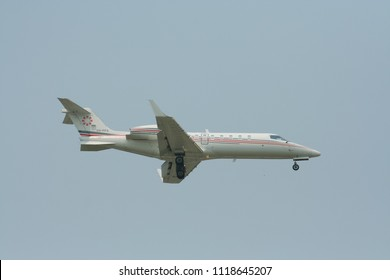 CHIANG MAI, THAILAND - APRIL  3 2009: VH-PFS Bombardier Learjet 45 of Pacific Flight Services. Flight at Chiangmai Airport.