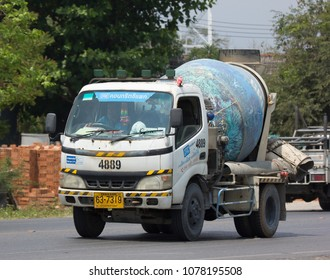 CHIANG MAI, THAILAND - APRIL  5 2018: Concrete truck of CPAC Concrete product company. Photo at road no.121 about 8 km from downtown Chiangmai, thailand.