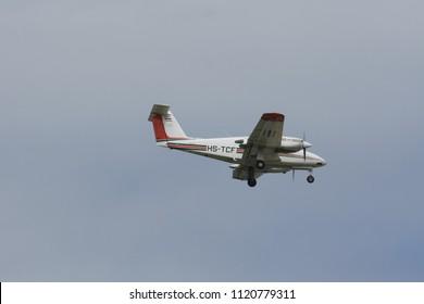 CHIANG MAI, THAILAND - AUGUEST 8 2007: 93304 Beech B200 of Royal Thai Survey Department, Royal Thai Air Force. Flight at Chiangmai Airport.