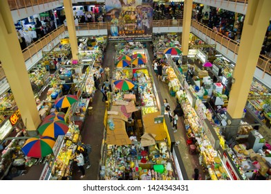 Chiang mai, Thailand - August 19, 2017: Warorot Market (Kad Luang). Tradition product Market for Tourist and Local people. Chiangmai, thailand.