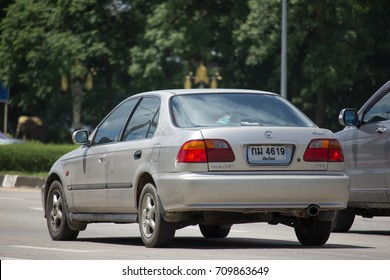 CHIANG MAI, THAILAND - AUGUST 22  2017: Private Sedan Car from Honda Automobil, Honda Civic. On road no.1001 8 km from Chiangmai Business Area.