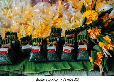 Chiang Mai, Thailand - August 27, 2016:  An offerings stall at the Warorot market on August 27, 2016 in Chiang Mai, Thailand.