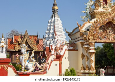 CHIANG MAI, THAILAND – DEC 10, 2019: Beautiful Temples and Attractions in Chiang Mai in Northern Thailand. Amazing Thailand.