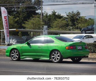CHIANG MAI, THAILAND -DECEMBER 12 2017: Private car, Toyota Celica. Photo at road no 121 about 8 km from downtown Chiangmai, thailand.