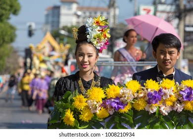 Chiang Mai, Thailand - February 4, 2017: Anniversary Chiang Mai Flower Festival 2017 opening ceremony.