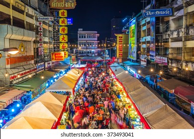 Chiang mai, Thailand - February 7th, 2016 : Crowded people walking through the Chiang Mai China Town Festival 2016 at Warorot Market (Kad Luang) in Chiang Mai, Thailand.