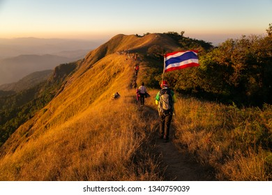Chiang Mai, Thailand - February 9, 2019: Doi Mon Jong the beautiful mountain Chiang Mai Thailand