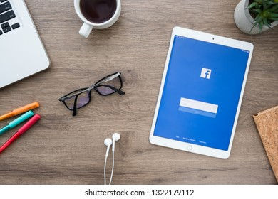 CHIANG MAI, THAILAND - Jan 09, 2019: The Facebook iOS applicatio