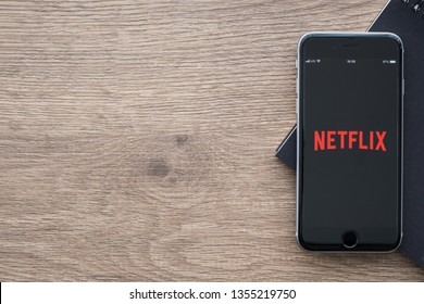 CHIANG MAI, THAILAND - Jan 09, 2019:Apple iPhone with Netflix application on the screen. Netflix is a provider of on-demand Internet streaming media, and of flat rate DVD-by-mail in the United States.