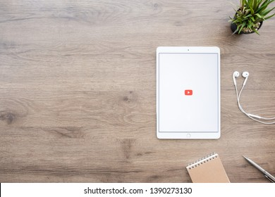 CHIANG MAI, THAILAND - Jan 09, 2019: Youtube application on Apple iPad Pro. YouTube is a free video sharing application that anyone can watch.