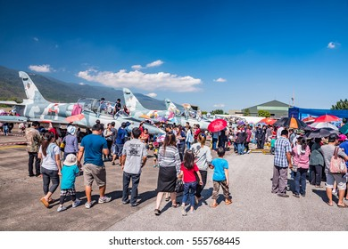 CHIANG MAI, THAILAND - JANUARY 14: Military show at Wing41 Airbase on Thai Children's Day on January 14, 2017 in Chiang mai, Thailand.