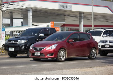 CHIANG MAI, THAILAND -JANUARY 19 2018: Private car, Nissan Pulsar. Photo at road no 121 about 8 km from downtown Chiangmai, thailand.