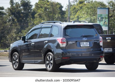 CHIANG MAI, THAILAND -JANUARY 22 2018: Private Suv car, Subaru Outback. Photo at road no.121 about 8 km from downtown Chiangmai, thailand.