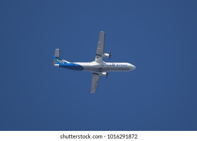 CHIANG MAI, THAILAND -JANUARY 23 2018: RDPL-34175 ATR72-500 of Lao Airlines.
