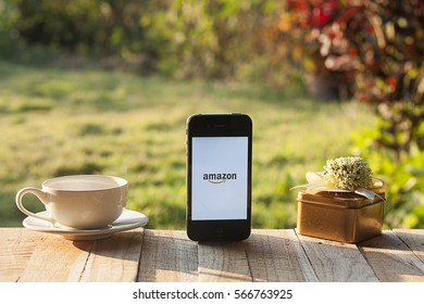CHIANG MAI, Thailand - January 29,2017: iPhone 4s showing Amazon apps. Amazon.com, Inc. is an American international electronic commerce company. It is the world's largest online retailer. Site