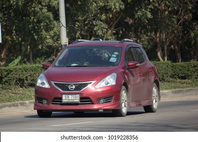 CHIANG MAI, THAILAND -JANUARY 9 2018: Private car, Nissan Pulsar. Photo at road no 121 about 8 km from downtown Chiangmai, thailand.