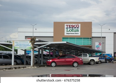 CHIANG MAI, THAILAND - JULY 12  2017: Tesco Lotus Hyper Market Meechok. Location on road no.1101 about 3 km from chiangmai city. Chiangmai Thailand.