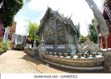 Chiang Mai, Thailand - July 15, 2018:  photo of Wat Si Suphan or Silver Temple, located in Chiang Mai, Thailand.