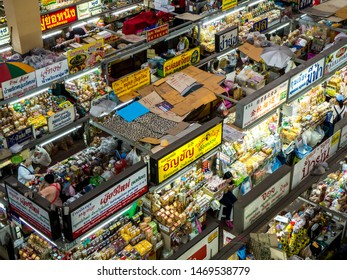 Chiang Mai , Thailand - July 23 2019 : Warorot Market. Warorot Market is the places for shopping foodstuff especially Kaep Moo (Deep-fried pork rinds), and Nam Prik (Chili paste) popular foods