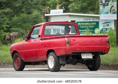 CHIANG MAI, THAILAND - JULY 23  2017:  Private car, Mazda Family mini Pick up truck.  On road no.1001, 8 km from Chiangmai Business Area.