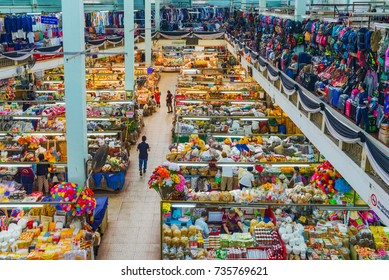 CHIANG MAI, THAILAND - JULY 29: This is Warorot market in the downtown area where locals and tourists come to buy a variety of traditional goods  on July 29, 2017 in Chiang Mai