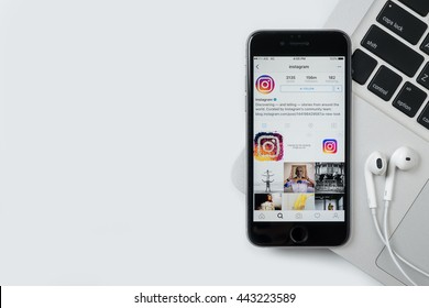 CHIANG MAI, THAILAND - Jun 24,2016: Apple iPhone with Instagram application on the screen. Instagram is a photo-sharing app for smartphones.