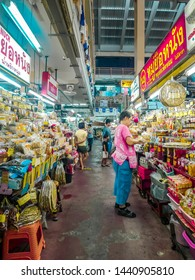 Chiang Mai, Thailand - June 11 2019:  A trip to Chiang Mai is not complete without a visit to the day market. Warorot market is located in Chinatown area in the city.