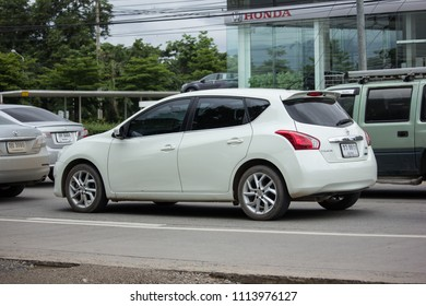 CHIANG MAI, THAILAND - JUNE 16 2018: Private car, Nissan Pulsar. Photo at road no 121 about 8 km from downtown Chiangmai, thailand.