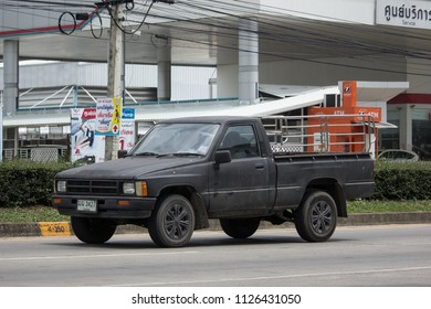 CHIANG MAI, THAILAND - JUNE 19 2018: Private old Pickup car, Toyota Hilux Mighty X. On road no.1001, 8 km from Chiangmai city.