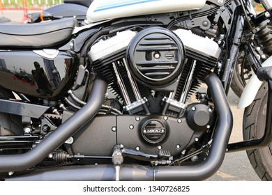 CHIANG MAI, Thailand - Mar 16, 2019 : New model motorcycle Harley-Davidson Freedom On Tour at Central Festival Chiangmai , Thailand