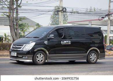 CHIANG MAI, THAILAND -MARCH 22 2018: Private Luxury Van from Hyundai Korea. Hyundai H1. On road no.1001, 8 km from Chiangmai city.