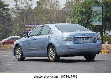 CHIANG MAI, THAILAND -MARCH 22 2018: Private car Toyota Camry. On road no.1001 8 km from Chiangmai Business Area.