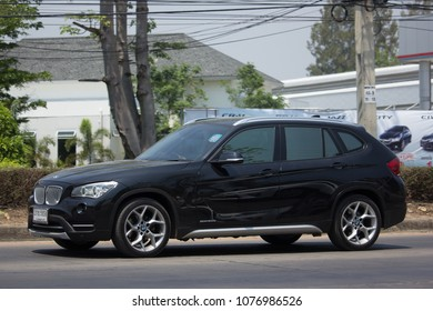 CHIANG MAI, THAILAND -MARCH 27 2018: Private Car. Bmw X1. Photo at road no.1001 about 8 km from downtown Chiangmai, thailand.