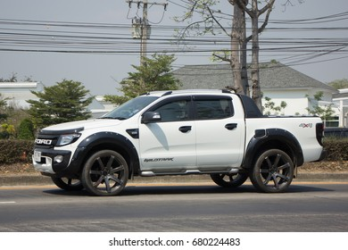 CHIANG MAI, THAILAND -MARCH 3 2017: Private Pickup car, Ford Ranger. On road no.1001, 8 km from Chiangmai city.