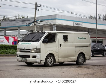 CHIANG MAI, THAILAND -MARCH 4 2017:  Money delivery Van of Guardforce Company.  On road no.1001, 8 km from Chiangmai city.