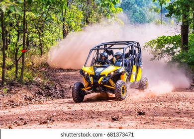 CHIANG MAI, THAILAND - MAY 03: Undefined Driver on Side-by-Side Vehicles (UTV) on countryside roads, May 03, 2015 in Chiang mai, Thailand.
