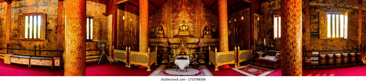 CHIANG MAI, THAILAND - May 15, 2020 : The Phra Phuttha Sihing is a highly revered Buddha image in Chiang Mai province., Thailand.