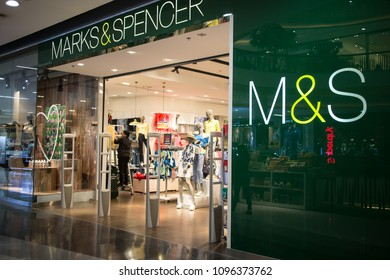 CHIANG MAI, THAILAND - MAY 16 2018:  Marks and Spencer shop. Shop  in Central Festival chiang mai. New Business Plaza of Chiangmai City.