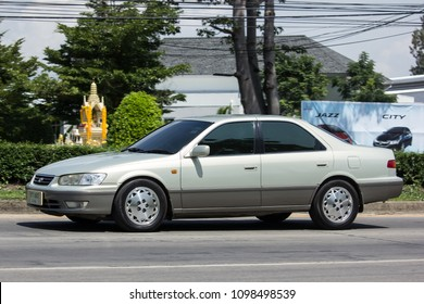 CHIANG MAI, THAILAND - MAY 18 2018: Private car Toyota Camry. On road no.1001 8 km from Chiangmai Business Area.