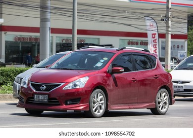 CHIANG MAI, THAILAND - MAY 18 2018: Private car, Nissan Pulsar. Photo at road no 121 about 8 km from downtown Chiangmai, thailand.