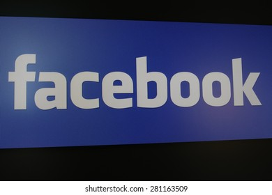Chiang Mai, Thailand - May 24, 2015: The logo of facebook website on computer screen on May 24, 2015 in Chiang Mai, Thailand. Facebook is famous social network website of the world.