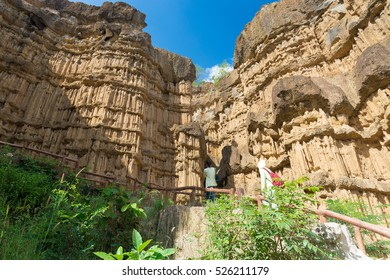 CHIANG MAI, THAILAND - NOV 5: Tourist at Pha Chor canyon in Mae Wang National Park, Chiang Mai,Thailand; Nov 5; 2015 in Chiang Mai; Thailand.
