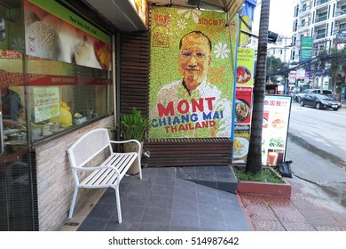CHIANG MAI, THAILAND - NOVEMBER 11, 2016 : Nimmanhaemin road is Chiang Mai 's chicest neighbourhood. Lots of  trendy cafe, restaurant, natty boutiques, hot and cool night spots and modern building